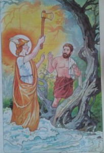 God Mercury and The Woodcutter