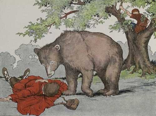 two friends and bear short story